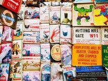 Mercado de Portobello, Londres Fotografía de archivo libre de regalías