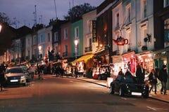 Mercado de Portobello, Londres, o Reino Unido Foto de Stock Royalty Free