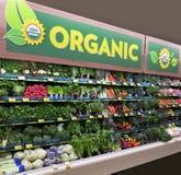 Mercado de producción orgánico foto de archivo