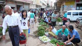 Mercado de producto agrícola en zona rural Imagen de archivo
