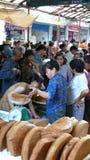 Mercado de producto agrícola en zona rural Fotos de archivo libres de regalías