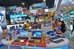 Mercado de productos de Digitaces Imagen de archivo libre de regalías