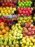Mercado de produto de Boqueria do La fotografia de stock