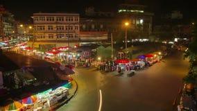 Mercado de produto fresco da noite do lapso de tempo de HD filme