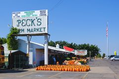 Mercado de produto fresco em Wisconsin, EUA Foto de Stock Royalty Free