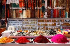 Mercado de pulga em Hampi, India fotografia de stock