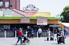 Mercado de pulgas del capitolio del viento del oeste Imagen de archivo libre de regalías