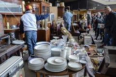 Mercado de pulgas, Els Encants Vells, Barcelona Imagen de archivo libre de regalías