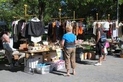 Mercado de pulgas en el parque de Molson Foto de archivo libre de regalías