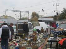 Mercado de pulgas en Kiev Imagenes de archivo