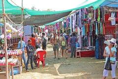 Mercado de pulgas en la playa de Anjuna Imágenes de archivo libres de regalías