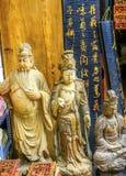 Mercado de pulgas de madera de Buddhas Panjuan Pekín China fotos de archivo libres de regalías