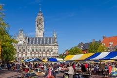 Mercado de pulgas Middelburg Fotografía de archivo