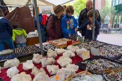 Mercado de pulgas Waterlooplein en Amsterdam Imagen de archivo libre de regalías