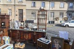 Mercado de pulgas de Zagreb domingo Fotos de archivo