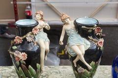 Mercado de pulgas de Zagreb domingo Imagen de archivo libre de regalías