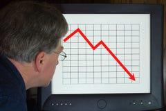 Mercado de queda imagem de stock