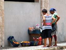 Mercado de rua Fotografia de Stock