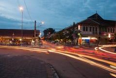 Mercado de rua da noite Imagens de Stock
