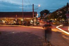 Mercado de rua da noite Fotografia de Stock