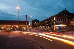 Mercado de rua da noite Imagens de Stock Royalty Free