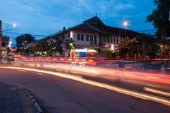 Mercado de rua da noite Fotos de Stock Royalty Free