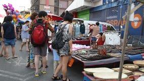 Mercado de rua de passeio vídeos de arquivo