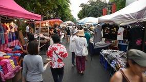 Mercado de rua de passeio video estoque
