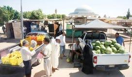 Mercado de rua em Bir Al Huffay imagem de stock