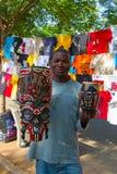 Mercado de sábado en Maputo Foto de archivo libre de regalías