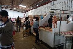 Mercado de San Agustin Fotos de Stock Royalty Free