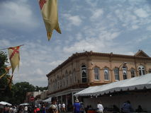 Mercado 2015 de Santa Fe New Mexico Indian fotos de stock