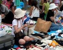 Mercado de segunda mão foto de stock