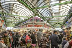 Mercado de Seoul, Coreia do Sul Imagem de Stock