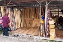 Mercado de Serikin, Sarawak Foto de archivo