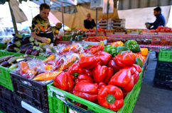 Mercado de Shuk HaNamal do porto Israel de Tel Aviv Fotografia de Stock
