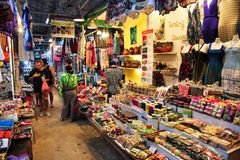 Mercado de Siem Reap Fotos de Stock Royalty Free