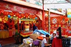 Mercado de Singapur Chinatown Foto de archivo libre de regalías