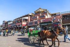 Mercado de Souk de Marrakesh, Marruecos Imagen de archivo libre de regalías