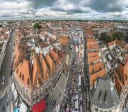Mercado de Tournai em Bélgica Fotos de Stock Royalty Free