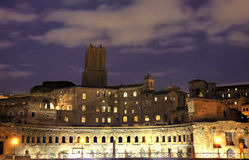 Mercado de Trajan azul da hora, Roma Foto de Stock Royalty Free