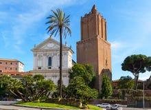 Mercado de Trajan em Roma Foto de Stock