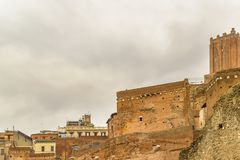 Mercado de Trajan, Roma, Itália fotos de stock