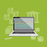 Mercado de troca Fotografia de Stock Royalty Free