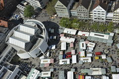 Mercado de Ulm Fotografía de archivo