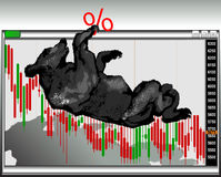 Mercado de urso _01 imagem de stock