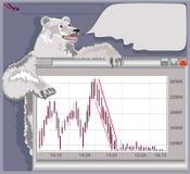 Mercado de urso Imagens de Stock Royalty Free