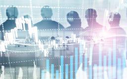 Mercado de valores de ação de Digitas Vara financeira da vela da carta do gráfico do mercado de valores de ação do negócio Troca  imagem de stock