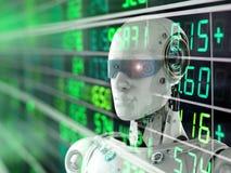 Mercado de valores de ação do robô ilustração royalty free
