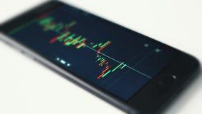 Mercado de valores de ação em Smartphone filme